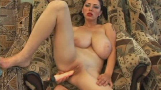 Busty Anya Uses Dildo on Her Pussy