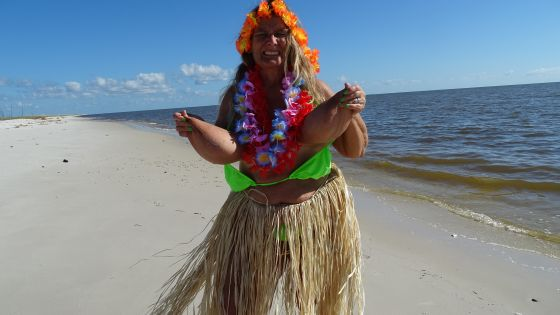 Beach Hula Girl Dance