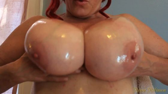 Oiled Boobs Swaying