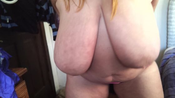 Nude in between changing outfits
