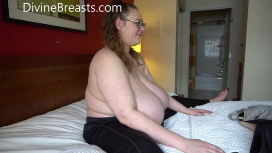 BBW with Giant Big Boobs Trying on Bras