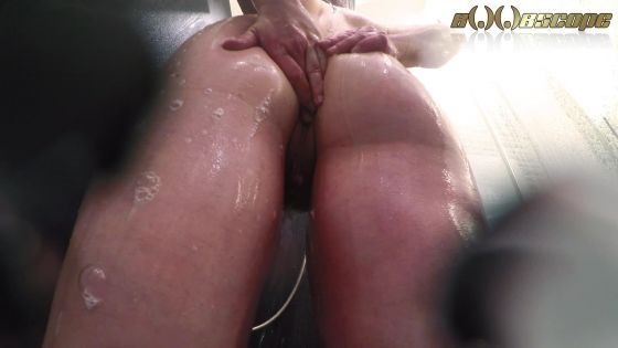 Sky Sinclair in the shower