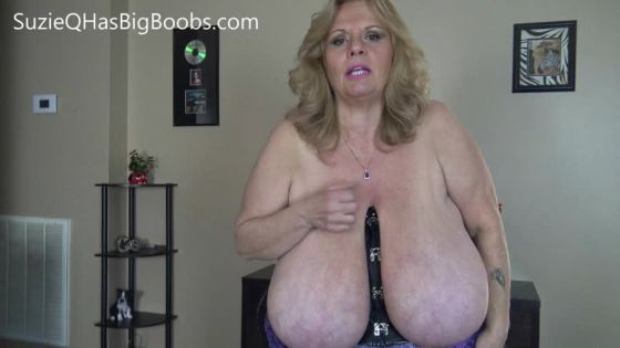 Suzie Q Sucks and Plays with Big Tits
