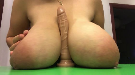 Titty fuck on your huge dick
