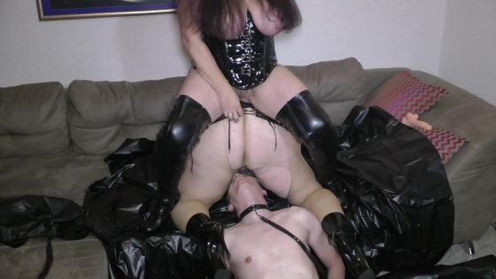 Perverted piss tower Slave swallows everything
