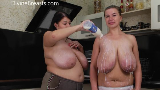 Ashley and Monica Wet Tits and Milk