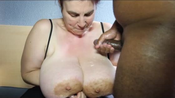 watch huge saggy tits take spunk