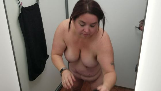 Sexy BBW in a Store's Dressing Room