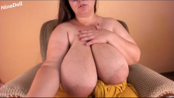 Spit on my huge boobs