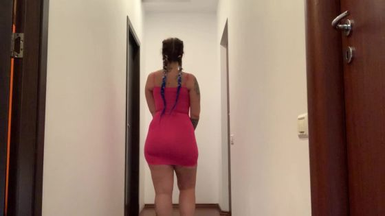 Tight dress on a fat ass
