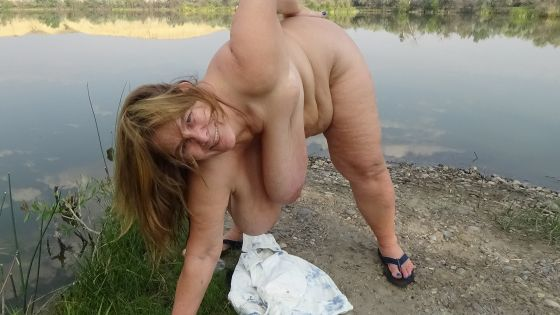 Oiling My Tits & Ass Up At Arapooish Pond Along The Bighorn River
