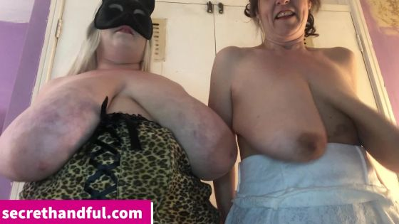 Aunty and Jenny boob clapping competition