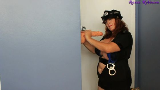 Officer Roxee Gets Frisky with Big Cock