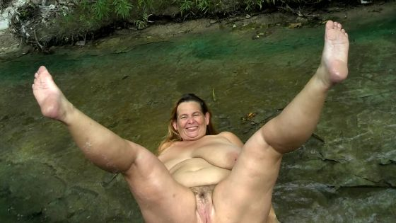 stripping and laying in creek