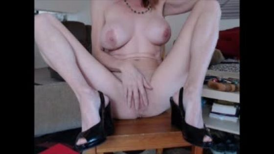 Big Clit Worship & Masturbation. Heels, Squating, Sexy!