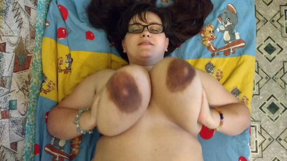u on top of me playing milking my boobs